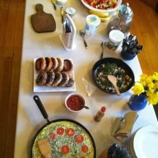 a breakfast spread